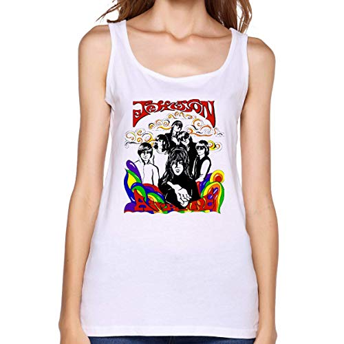Jefferson Airplane Classic Tank Tops for Girls White,White,X-Large -