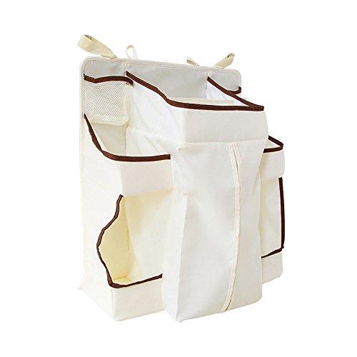 iHome&iLife Hanging Organizer Portaoggetti con Tasche grandi, ampio spazio per Salviette, Pannolini, Creme & Lozioni, Facile accesso a tutti i cambiamenti