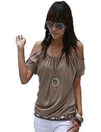 Mississhop, hergestellt in EU - Camiseta - Liso - para mujer