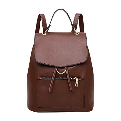 Itchic borsa a tracolla casual in pelle per studenti di grande capacità, colore puro, semplice zaino borsa a tracolla casual a spalla tinta unita per donna