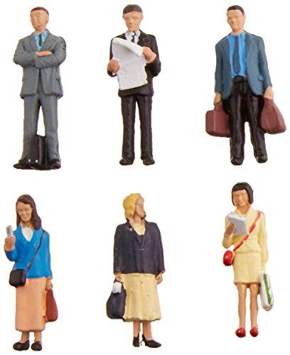 Bachmann Industries SceneScapes stehend Plattform Passagiere Miniatur-Figuren (6Stück)
