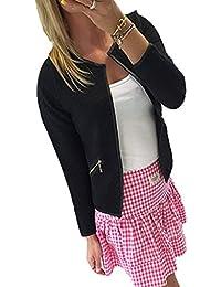 DDLBiz® Femmes élégant Tartan Cardigan à Manches Longues / Blouse à Carreaux en Coton Doux - Confortable