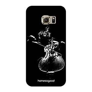 HomeSoGood Music Brings Passion Black For Samsung S6 Edge ( Back Cover)
