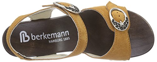 Berkemann - Adalie, Scarpe col tacco con cinturino a T Donna Marrone (Braun (445 cognac))