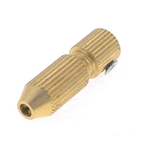 Sourcingmap - Tono oro albero motore in ottone 2,3 millimetri 1.1-1.5mm mini mandrino trapano elettrico