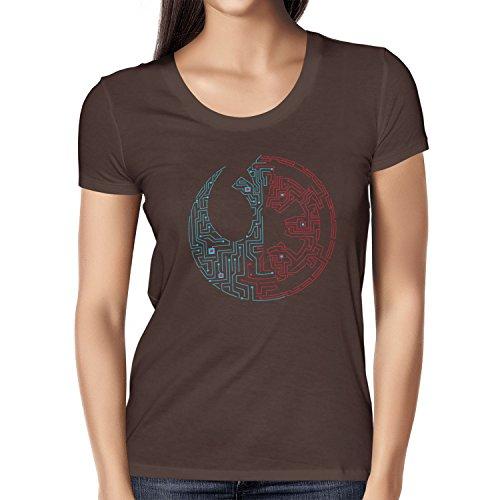 TEXLAB - Geteilte Galaxie - Damen T-Shirt Braun