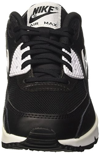Nike Damen Air Max 90 Essential Sneakers Schwarz (black/white-metallic Silver)