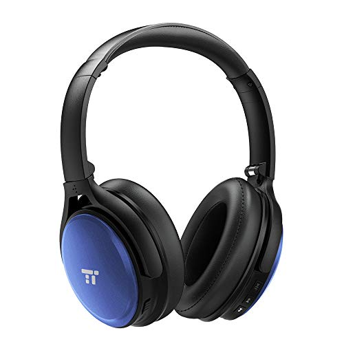 TaoTronics Noise Cancelling Bluetooth Headphones (Black/Blue)