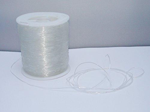 Elastikband - Fädelmaterial Transparent , 5 Meter, 0,8 mm, EB08