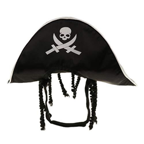 Hunde Kapitän Kostüm - LOVIVER Piratenhut Pirat Kapitän Cosplay Kostüm für Hunde und Katzen