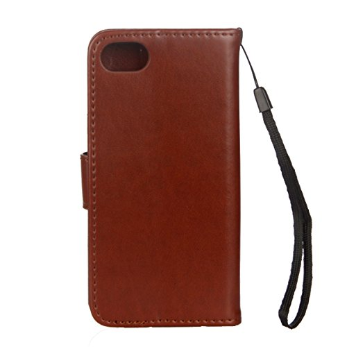 Cover per iPhone 6/6s (4.7), EUWLY Portafoglio Custodia in Pelle Protettiva Cover Case Per iPhone 6/6s (4.7) Premium Retro Morbido PU Leather Wallet Cover Supporto Stand Fuction Chiusura Magnetica c Marrone