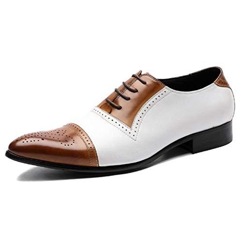 MAKAFJ Mens Brogues Schuhe Lace Patent Classic Vintage Brautkleid Schuhe Büro Casual Business...