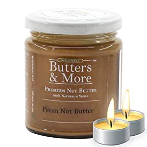 Butters & More Vegan Natural Pecan Nut Butter (200G) Unsweetened Single Ingredient Premium Nut Butter. with a Surprise Diwali Gift!