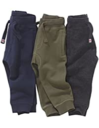next Niños Pack De Tres Pantalones De Chándal Básicos Ropa De Abajo Corte Estándar