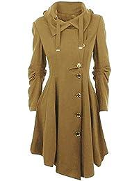 ZHRUI Capa para Mujer Invierno Casual Plus Size Irregular cálido Abrigos de  Lana Camel UK 3XL 788f63a5dde0