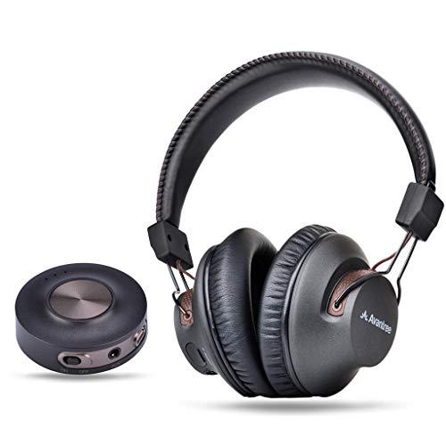 Avantree HT3189 Auriculares Inalambricos TV con Transmisor Bluetooth, Para PC Video juegos, Aux 3.5mm & RCA (NO OPTICA) Sin Retardo de Audio, Largo Alcance, 40 Horas de Batería, PRE-EMPAREJADO