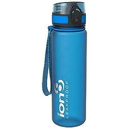 ion8 Leak Proof BPA Free, Botella de agua, sin BPS, a pueba de fugas, Azul (Frosted Blue), 500 ml