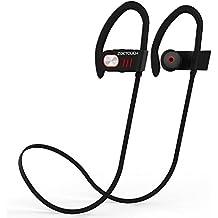 Auriculares Bluetooth 4.1, ZOETOUCH Auriculares Inalámbricos In Ear con Micrófono Cascos Bluetooth con Sonido Estéreo Llamadas a Manos Libres para iPhone, Samsung, Sony, HUAWEI - Rojo