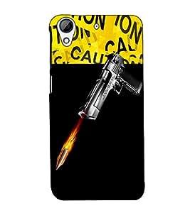 Fuson Designer Back Case Cover for HTC Desire 728 Dual Sim :: HTC Desire 728G Dual Sim (A gun and bullete theme)