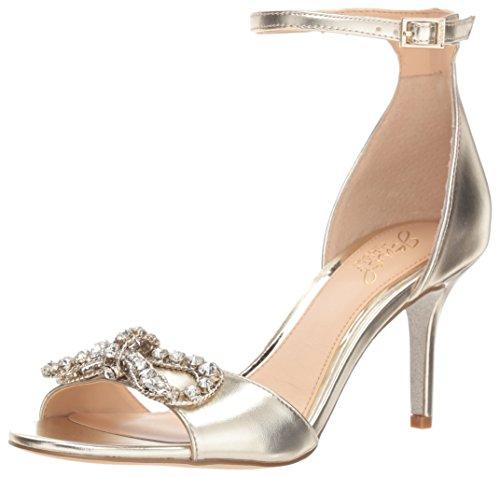 Badgley Mischka Damen Miguela Sandalen mit Absatz, Gold/Metallic, 37.5 EU Jewel Strap Sandal