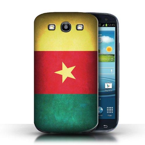 Coque en plastique pour Samsung Galaxy S3/SIII Collection Drapeau - Nigeria Cameroun