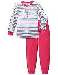 9539b184a9 Schiesser Mädchen Nici Feeoly's World Frottee Schlafanzug lang Pink