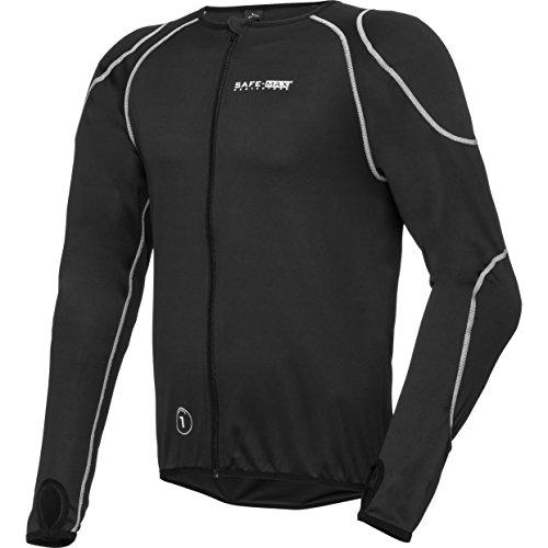 Safe Max® Motorrrad-Protektor, Motorrad-Protektorenhemd Unterziehjacke mit Gelenk- und Rückenprotektor 3.0, extrem funktional, luftig, atmungsaktiv, Schulter-, Ellbogenprotektoren, Schwarz, XXL / 2XL