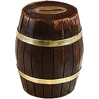 Preisvergleich für Tirelire en forme de tonneau en bois de mangue