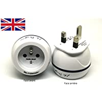 Adaptateur De Voyage France Vers Grande Bretagne GB / Angleterre / UK - Gamme Bulle- BB0165 - LTE Design - Leach Travel Europe