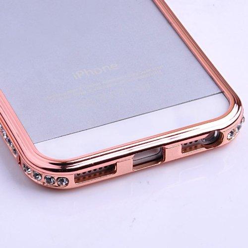 Apple Iphone 5 / 5S Aluminium Case Schutzhülle mit 'Diamanten' GOLD rose