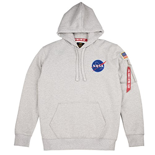 Alpha Industries Hoody Space Shuttle, Größe:S, Farbe:grey heather