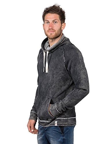 Chillaz Herren Crossneck Open Edge Hoody, Black Washed, XL