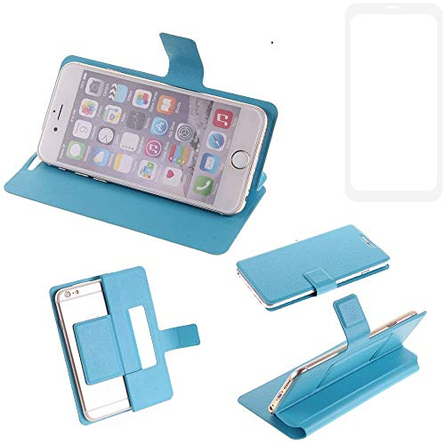 K-S-Trade Flipcover für Vestel V3 5580 Dual-SIM Schutz Hülle Schutzhülle Flip Cover Handy case Smartphone Handyhülle blau