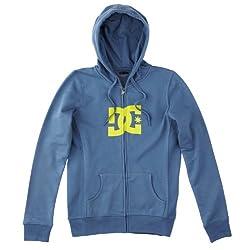 DC Shoes Damen Full Zip Hoodie Star, blue haze/neon yellow, 42 (XL), DOWSE073