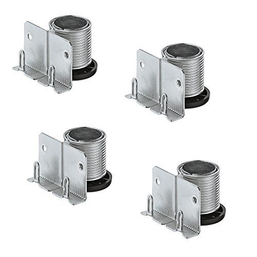 4 Stück - GedoTec PROFI Sockelfuß Möbelfüße verstellbar zum Einbohren & Schrauben | Tragkraft 150 kg | Sockelverstellfuß Stahl massiv | +20 mm höhenverstellbar | Markenqualität für Ihren Wohnbereich