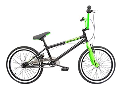"""Rooster Jamminator 20"""" BMX Bike Black/Green with 36 Spoke Wheels from Rooster"""