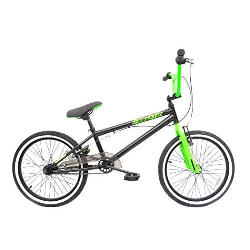 """41FSC5GuU4L. SS500  - Rooster Jamminator 20"""" BMX Bike Black/Green with 36 Spoke Wheels"""
