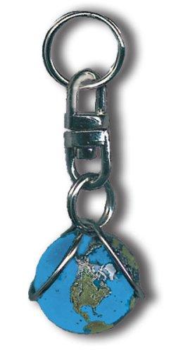 Schlüsselanhänger mit Erde, Mars, Peace und Reißverschluss Half Inch Diameter Zipper Pull Blue Earth Marble, Natural Continents