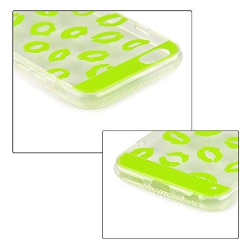 Phone case & Hülle Für IPhone 6 / 6S, Ultrathin Sexy Lippen Muster TPU Schutzhülle ( Color : Black ) Green