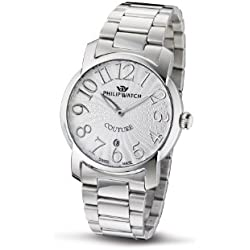 Philip Ladies Couture Analogue Watch R8253198515 with Quartz Movement, Silver Dial and Stainless Steel Case