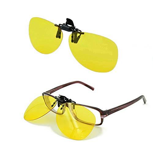 Great Ideas Nachtsichtbrillen oder Nachtsicht-Aufsätze für die Brille, mit rutschfesten Bügeln, zur Verringerung von Blendung bei Nachtfahrten, 2er-Packs