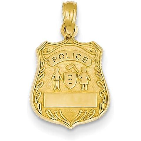 Icecarats Designer Di Gioielli Polizia 14K Ciondolo (Distintivo Della Polizia Pendente)