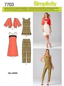 Simplicity S7703.R5 Patron de Couture Ensemble Femmes