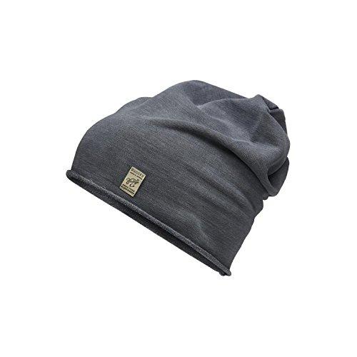 Jack & Jones Herren Beanie Mütze Vintage Look (Dark Grey, One Size)