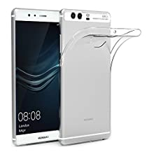 Huawei P9 Custodia Cover, AICEK P9 5.2 pollici Silicone Caso Molle di TPU Cristallo Trasparente Sottile Anti Scivolo Case Posteriore Della Copertura Della Protezione Anti-urto per P9