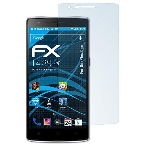 atFoliX FX-Clear Displayschutzfolie (OnePlus One, OnePlus, One, OnePlus One One 3Stück (S), Kratzresistent, transparent, 3Stück (S)) (Einfache Mechanische Mod)