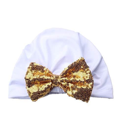 Neugeborenes Baby Baumwolle Mütze, Tukistore Mode Pailletten-Bowknot weiche Turban Knoten Hut Jungen Mädchen Indien Hut Stirnbänder