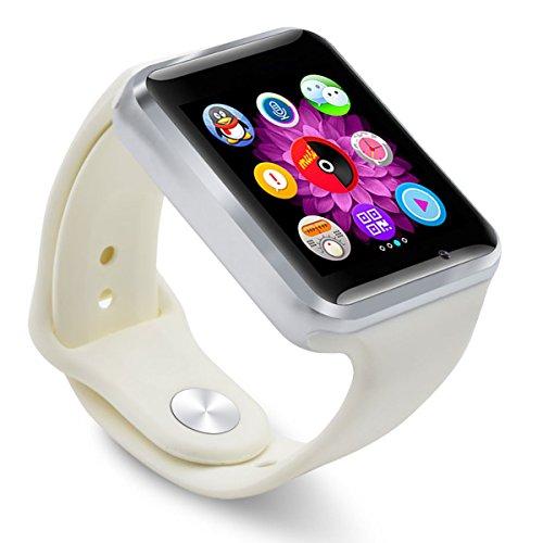 AmYin Bluetooth Android Uhr Telefon mit Kamera A1W (weiß)