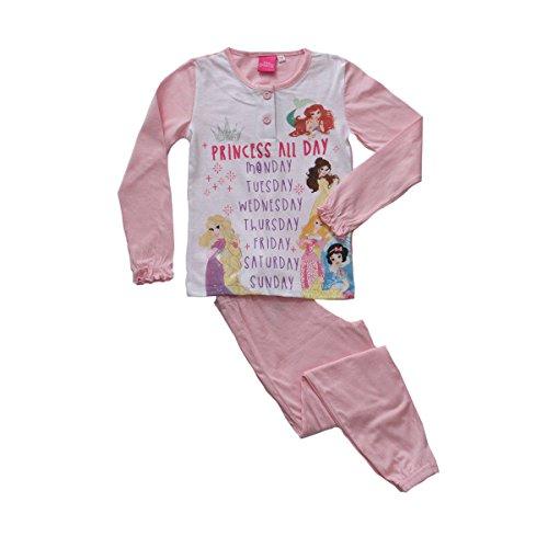 Pigiama da bambina principesse disney wd22944 jersey di cotne s216 3 anni