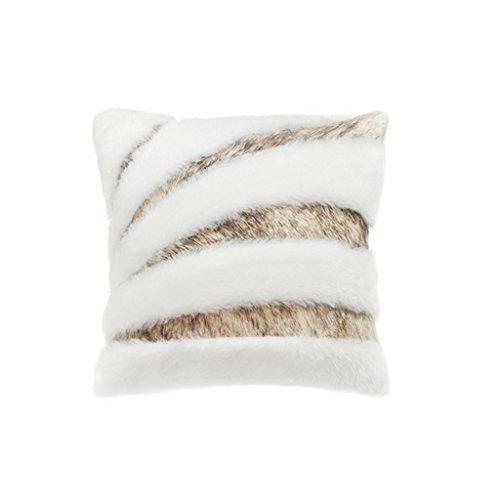 Back cushion Clothes- Sofá Cojines Plumas Corte de Costura de Cordero de Cuero Gran Almohada Almohada de Cabecera de Cama de Plumas Adornos de La Vaca Almohada Cojín de Espalda (Color : Blanco)